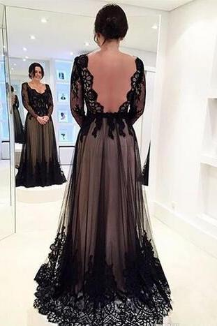 Vestido de Madrinha de Casamento 2018 New Modern Black Plus Size Mother of the Bride Dresses Long Sleeve Prom Dresses