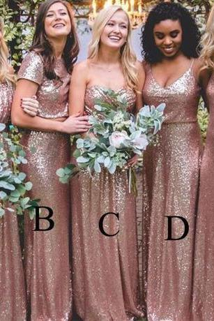 Bling Bling Sparkly Bridesmaid Dresses 2018 Rose Gold Sequins New Cheap Mermaid Two Pieces Prom Gowns Backless Country Beach Party Dresses