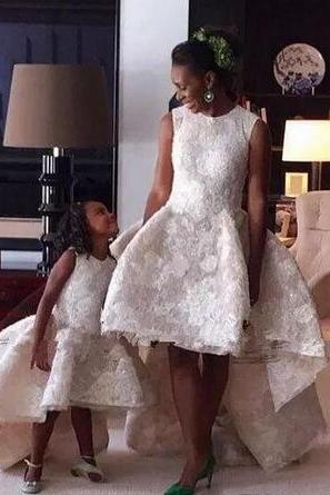 Knee Length Wedding Dresses Arabic High Low Lace Wedding Gowns Jewel Neck Country vestido de novia