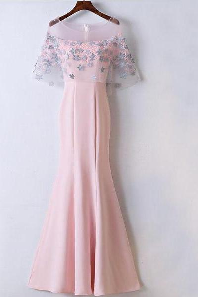 Affordable Unique New Design Pink Prom Dresses, Mermaid Popular Prom Dress for party