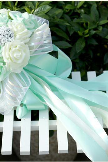 New Arrival Wedding Bouquet Handmade Flowers Light Green and Ivory Bridal Bouquet Wedding bouquets