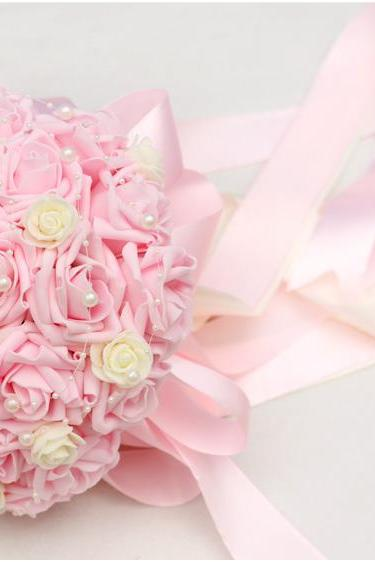 New Arrival Wedding Bouquet Handmade Flowers Light Pink Bridal Bouquet Wedding bouquets