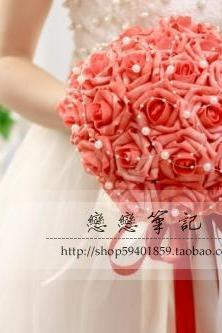 New Arrival Wedding Bouquet Handmade Flowers Peach Bridal Bouquet Wedding bouquets