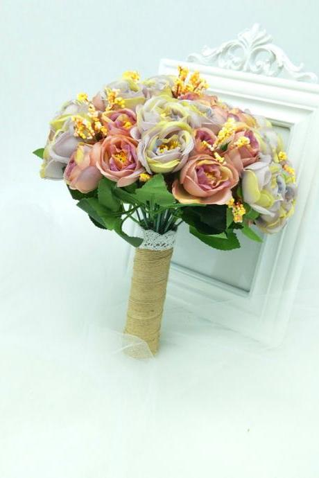 New Arrival Wedding Bouquet Handmade Flowers Peony Bridal Bouquet Wedding bouquets