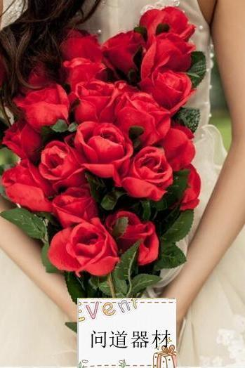 New Arrival Wedding Bouquet Handmade Flowers Red Rose Bridal Bouquet Wedding bouquets