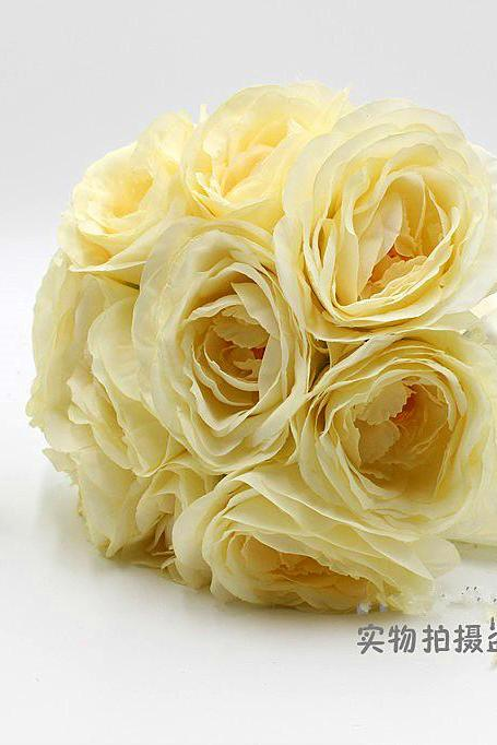 New Arrival Wedding Bouquet Handmade Flowers Beige Bridal Bouquet Wedding bouquets