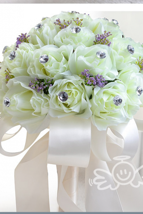 New Arrival Wedding Bouquet Handmade Flowers White Rose Bridal Bouquet Wedding bouquets