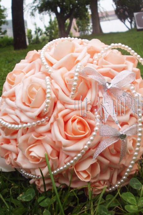 New Arrival Wedding Bouquet Handmade Flowers Rose with Pearls Bridal Bouquet Wedding bouquets