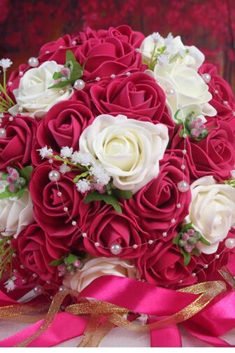 New Arrival Wedding Bouquet Handmade Flowers Fuchsia Bridal Bouquet Wedding bouquets