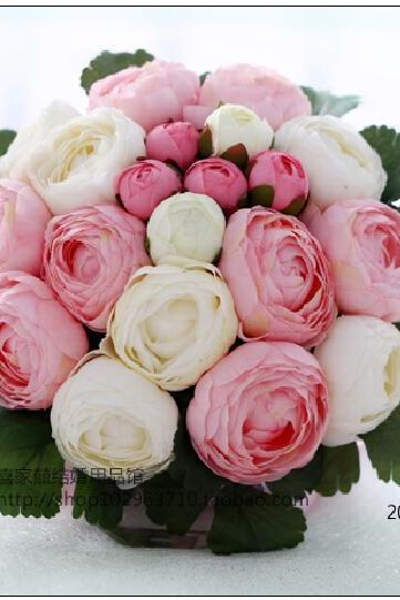 New Arrival Wedding Bouquet Handmade Flowers Pink and White Peony Bridal Bouquet Wedding bouquets