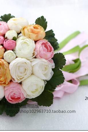 New Arrival Wedding Bouquet Handmade Flowers Pink White and Orange Bridal Bouquet Wedding bouquets