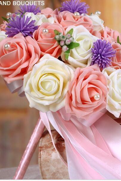 New Arrival Wedding Bouquet Handmade Flowers Light Pink and Ivory Bridal Bouquet Wedding bouquets